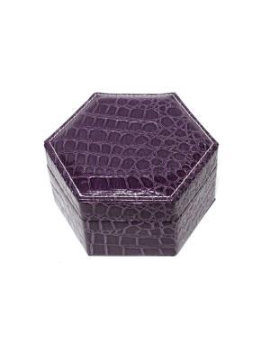Шкатулка для украшений Eleon. Цвет: темно-фиолетовый