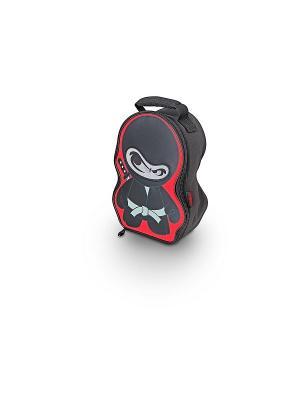 Детская сумка-термос Ninja Novelty Lenticular Thermos. Цвет: красный, черный