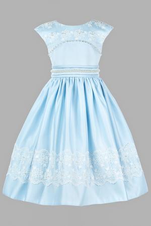 Платье праздничное Perlitta. Цвет: нежно-голубой