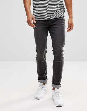 Dead Vintage Серые зауженные джинсы. Цвет: серый