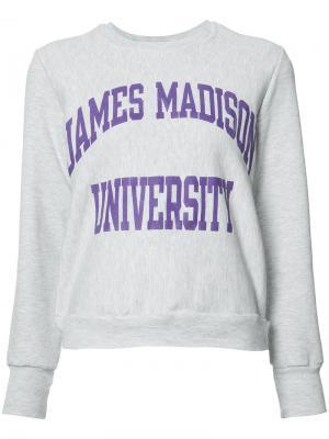 Толстовка James Madison University Re/Done. Цвет: серый