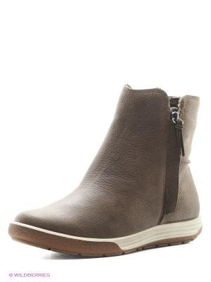 Ботинки ECCO. Цвет: серо-коричневый