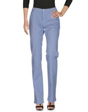 Джинсовые брюки KITON. Цвет: сиреневый