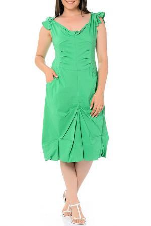 Платье Milanesse. Цвет: зеленый