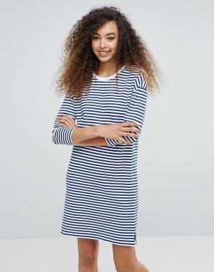 MbyM Полосатое трикотажное платье. Цвет: мульти