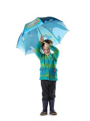 Зонт Бегемотик Арнольд Lilliputiens. Цвет: бирюзовый, голубой
