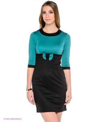 Платье Dea Fiori. Цвет: черный, бирюзовый