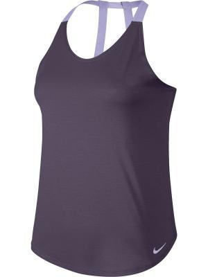Майка спортивная W NK BRTHE TANK ELASTIKA Nike. Цвет: фиолетовый