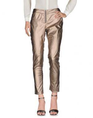 Повседневные брюки DORALICE. Цвет: золотистый