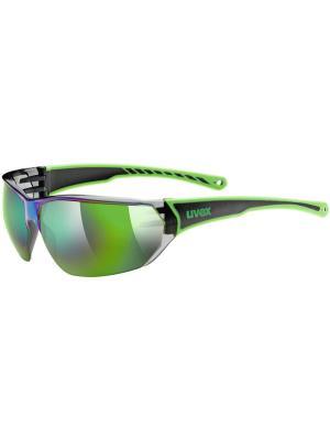 Солнцезащитные очки Uvex. Цвет: черный, зеленый