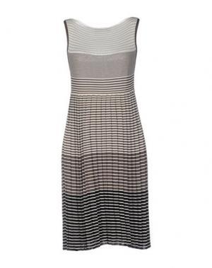 Короткое платье BP STUDIO. Цвет: голубиный серый