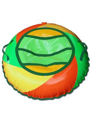 Тюбинг ТЕНТ-СПИРАЛЬ ЗОЖ, 100 см Belon. Цвет: зеленый, желтый, рыжий
