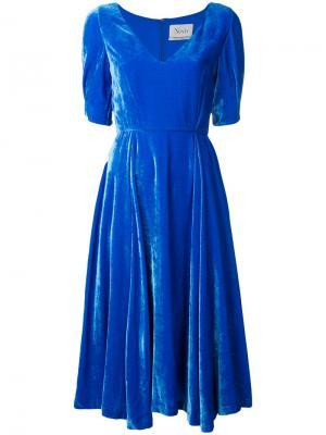 Расклешенное платье-миди Novis. Цвет: синий