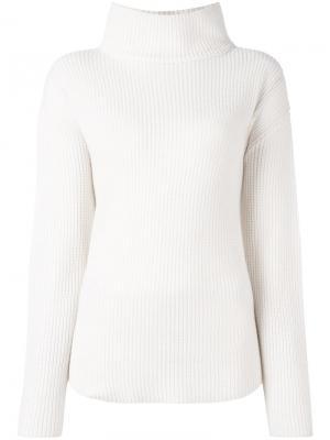 Свободный свитер с высокой горловиной Allude. Цвет: телесный