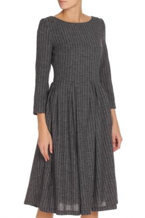 Платье-миди NATALIA PICARIELLO. Цвет: синий,серый