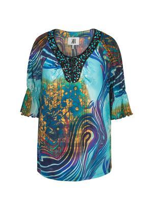 Блузка KR. Цвет: синий, горчичный, лазурный
