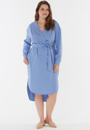 Платье W&B. Цвет: голубой