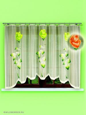 Гардина Haft. Цвет: оливковый