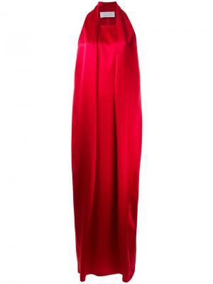 Длинное платье без рукавов Gianluca Capannolo. Цвет: красный