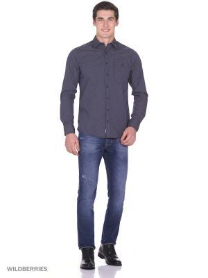 Рубашка Boston Brothers. Цвет: темно-серый