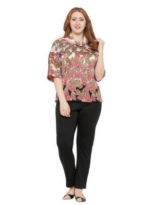 Блузка Lady Di. Цвет: черный, розовый