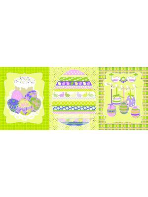 Набор из трех полотенец (45х60) Вышивка лён Традиция. Цвет: светло-зеленый,сиреневый,белый