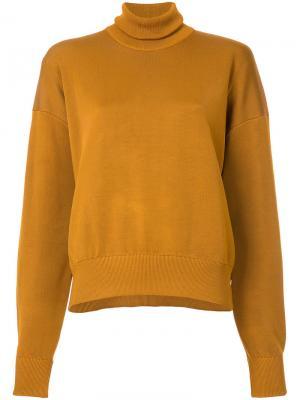 Вязаная водолазка Studio Nicholson. Цвет: жёлтый и оранжевый