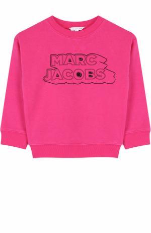 Хлопковый свитшот с принтом Marc Jacobs. Цвет: розовый