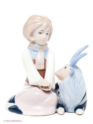 Фигурка-зодиак Козерог Pavone. Цвет: светло-голубой, бледно-розовый, белый