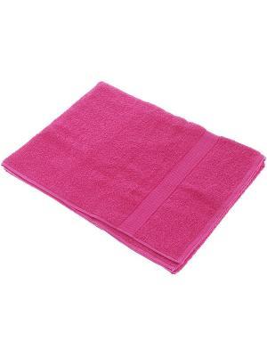 Махровое полотенце малина 50*90-100% хлопок, в коробке УзТ-ПМ-112-08-28к Aisha. Цвет: малиновый