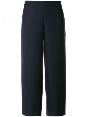 Укороченные брюки с завышенной талией Roberto Collina. Цвет: синий