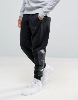 Jordan Джоггеры с логотипом Nike 834375-010. Цвет: черный
