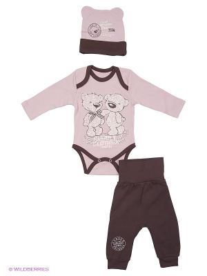 Комплект одежды Апрель. Цвет: коричневый