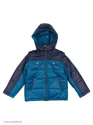 Куртка КАЛIНКА. Цвет: лазурный, темно-зеленый