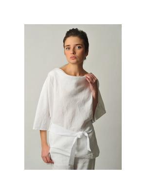 Блуза Каникулы LINO RUSSO. Цвет: белый