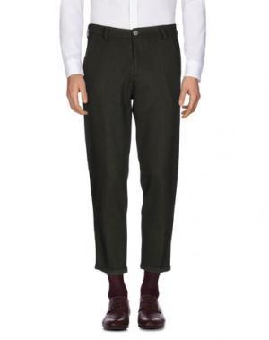 Повседневные брюки 26.7 TWENTYSIXSEVEN. Цвет: темно-зеленый