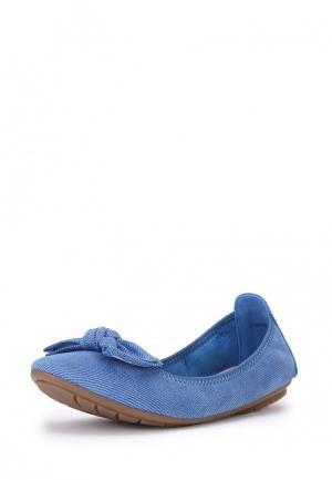 Балетки T.Taccardi. Цвет: голубой