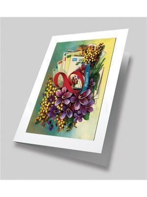 Набор для создания открытки Букет любимой! Матренин Посад. Цвет: красный, белый, желтый, синий
