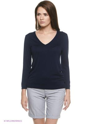 Пуловер Oodji. Цвет: темно-синий