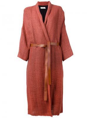 Кардиган-пальто с шалевыми лацканами Masscob. Цвет: жёлтый и оранжевый