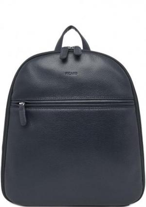 Темно-синий кожаный рюкзак Picard. Цвет: синий
