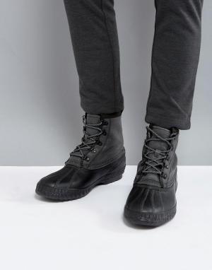 Sorel Водонепроницаемые парусиновые ботинки Cheyanne. Цвет: черный
