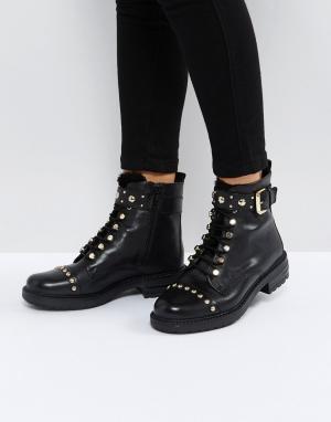 Carvela Кожаные ботинки на шнуровке Son. Цвет: черный