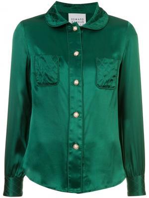Классическая рубашка Edward Achour Paris. Цвет: зелёный