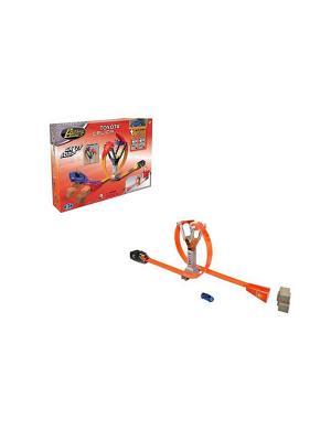 Трек с пусковым механизмом машиной toyota celica Happy Well. Цвет: оранжевый