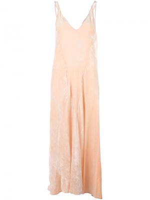 Платье Marisa Var. 3 Attico. Цвет: розовый и фиолетовый