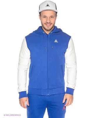 Толстовка Le coq sportif. Цвет: синий, белый