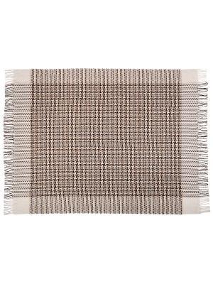 Плед Cappuccino, 170х210 VLADI. Цвет: бежевый, белый, коричневый