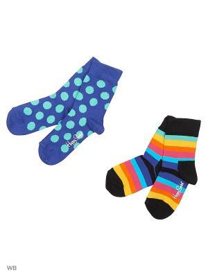 Носки Happy Socks. Цвет: черный, голубой, синий