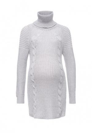 Платье Budumamoy. Цвет: серый